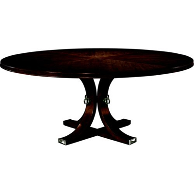 Hickory Chair Artisan Round Dining Table Top and Base Mahogany