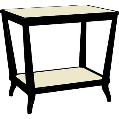 Hickory Chair Rye Rectangular Side Table Mahogany
