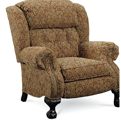 Lane 2667 recliners magnate high leg recliner discount for Belle hide a chaise high leg recliner