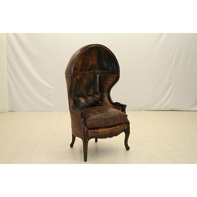 Old Hickory Tannery French Hooded Porters Chair
