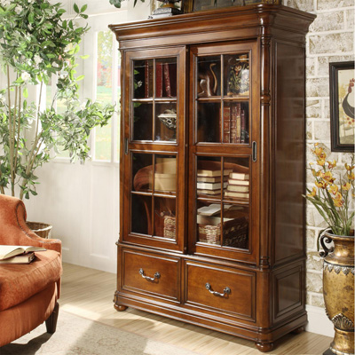 Riverside Sliding Door Bookcase
