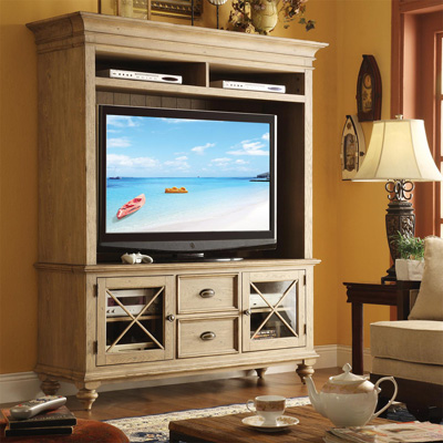 Riverside 58 Inch TV Console and Hutch