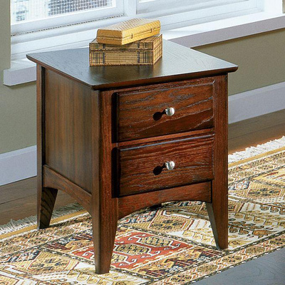 Riverside Two Drawer Side Table