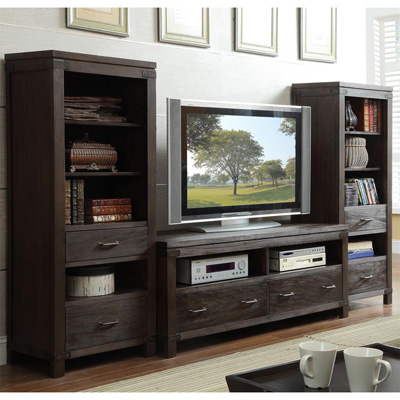 Riverside 60 Inch TV Console and Piers