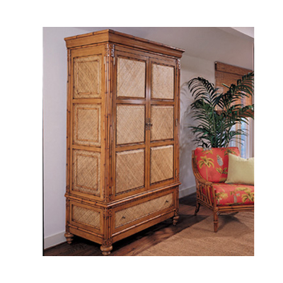 Whitecraft m635858 maui bedroom large armoire discount for Affordable furniture maui