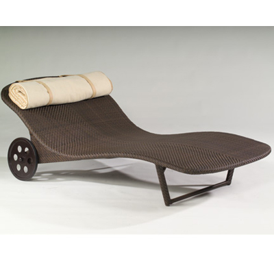Wicker chaise outdoor and patio hickory park furniture for Balinese chaise lounge