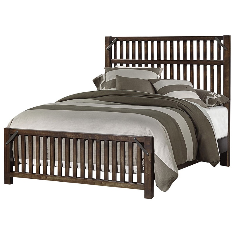 Seamans Furniture Store: Artisan And Post 126-558 Sedgwick Queen Elevator Slat Bed