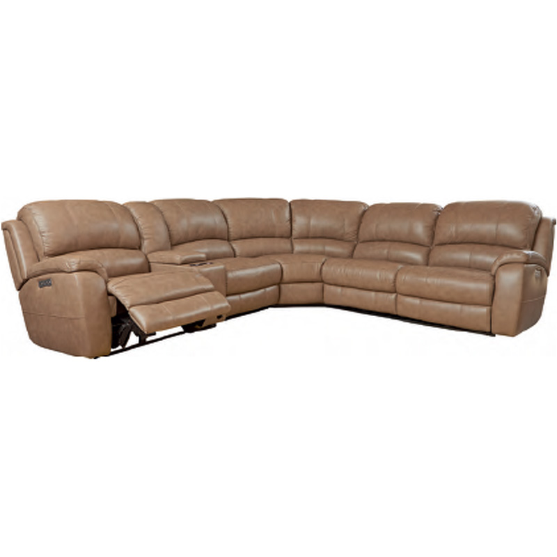 Bassett 3700-P62M Club Level Godfrey Motion Sectional with ...