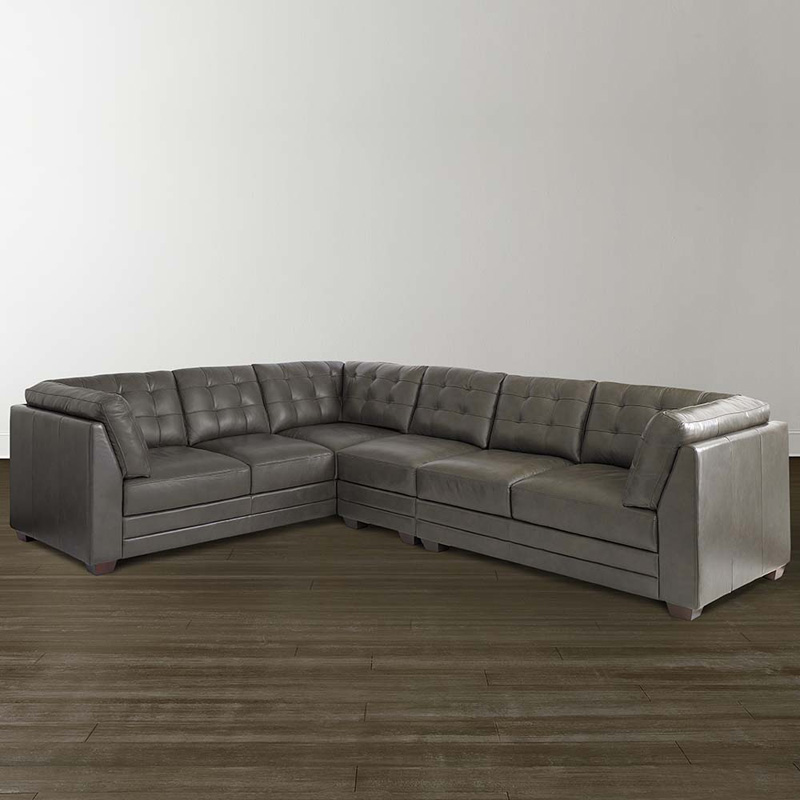 Bassett 3730 lrsecte2 affinity large l shaped sectional for Bassett sectional sofa with chaise