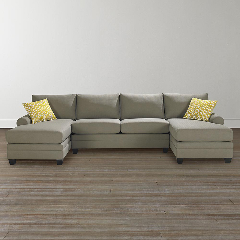 Bassett 3851 csect cu 2 double chaise sectional discount for Bassett sectional sofa with chaise