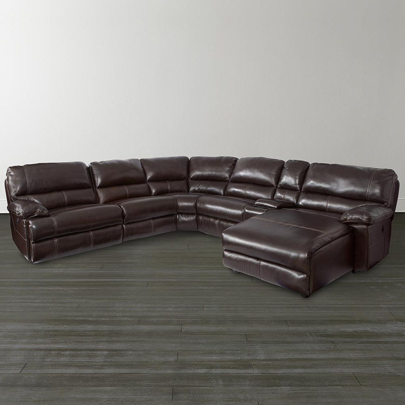 Bassett 3948 csectw dillon motion chaise sectional for Bassett sectional sofa with chaise