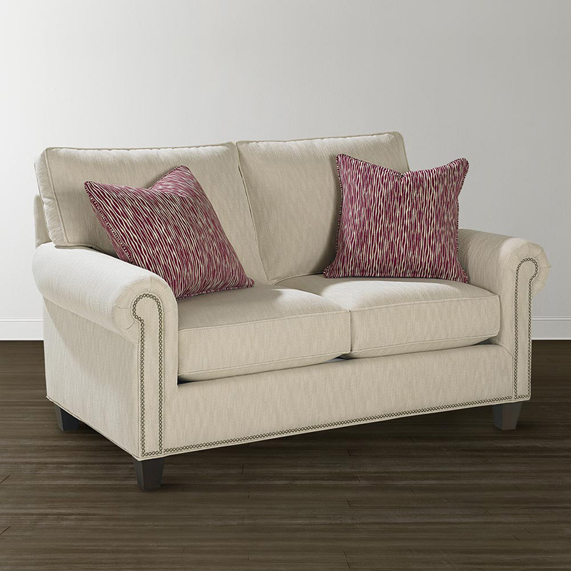 Bassett 4000 42f custom upholstery medium loveseat for Affordable furniture upholstery