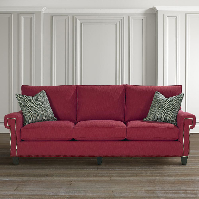 Bassett 4000-82F Custom Upholstery Medium Great Room Sofa