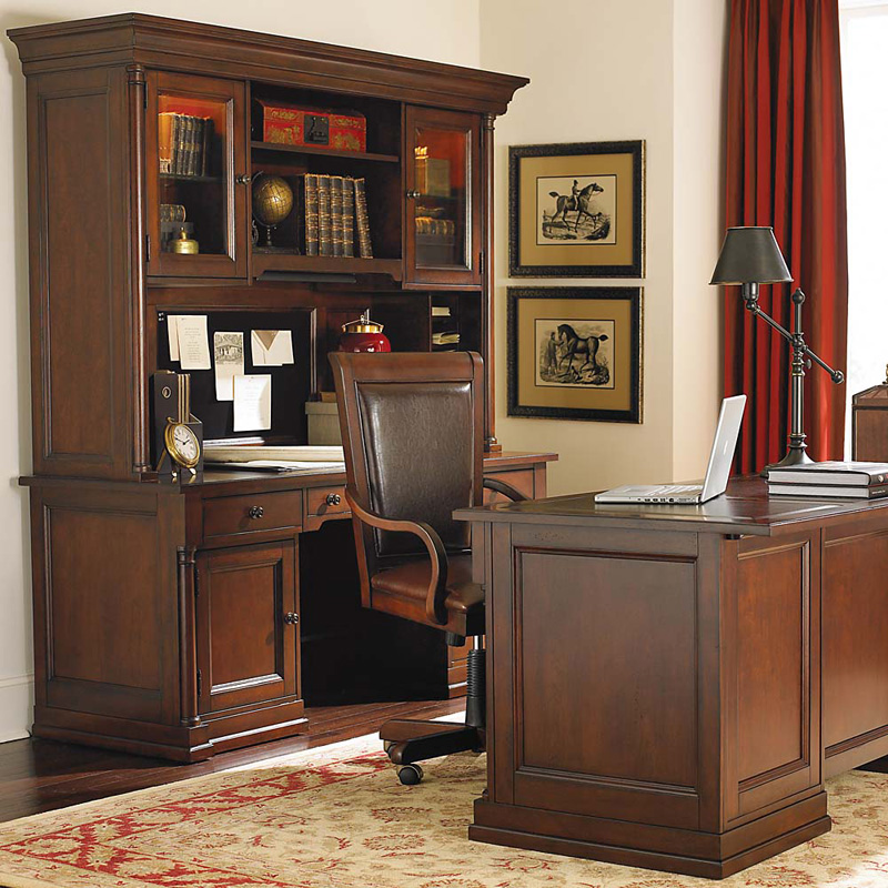 Bassett Credenza With Hutch Louis Philippe Sale Homeoffice