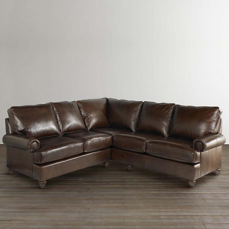 Leather Furniture Store Ottawa: Bassett 3103-LSECTLS Montague Small L Shaped Sectional