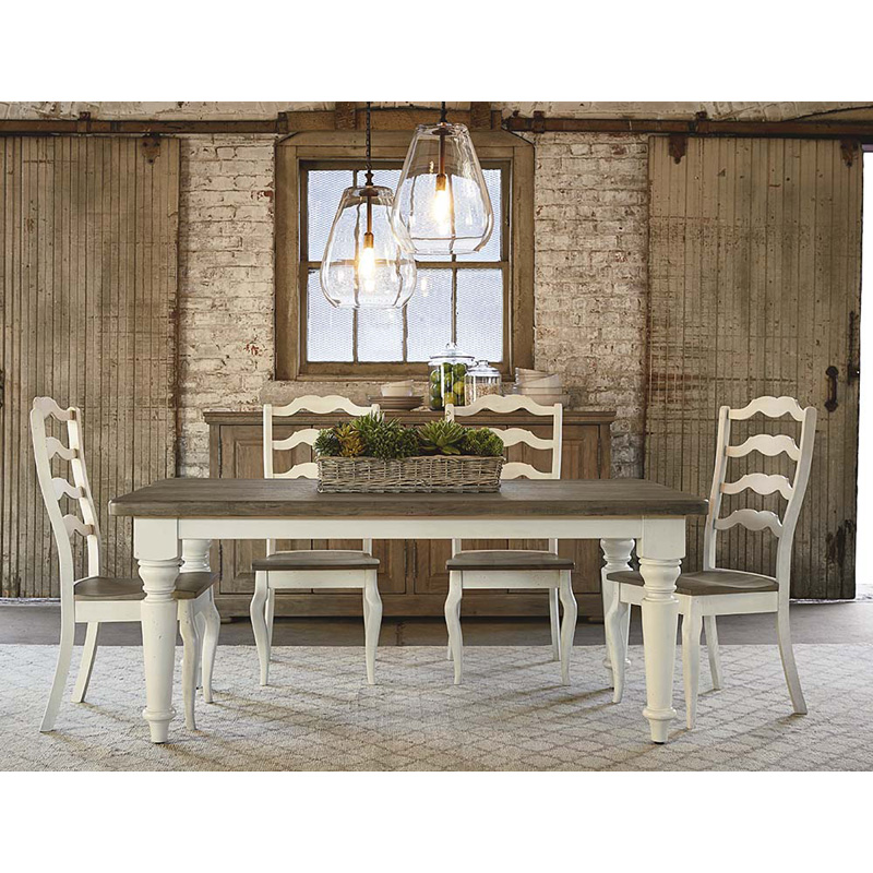 Bassett 4015 4272 Bench Made 72 Inch Farmhouse Table