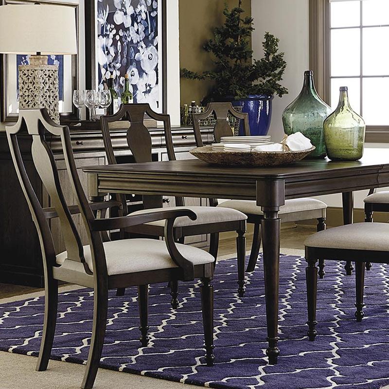 Bassett Furniture Greensboro: Bassett 4479-K4676 Provence Double Pedestal Dining Table