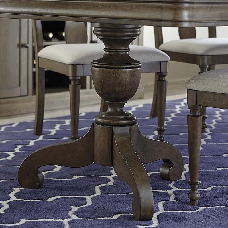 Bassett Furniture Greensboro: Bassett 4779-K4676 Provence Double Pedestal Dining Table