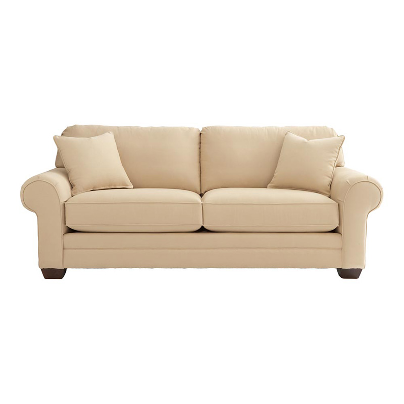Bassett 6000 62f custom upholstery estate sofa discount for Affordable furniture upholstery