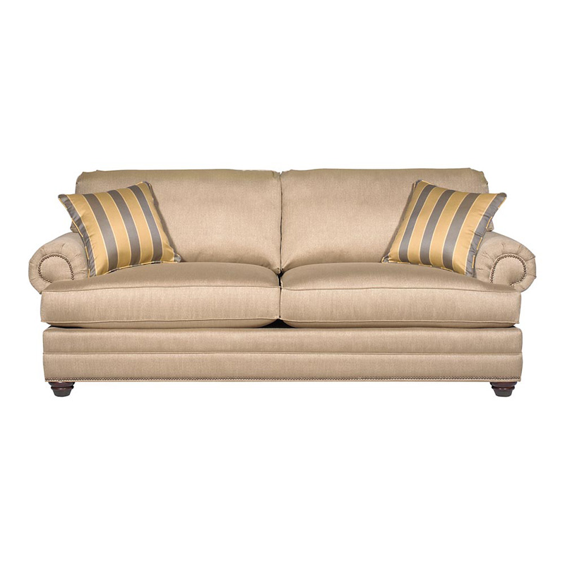 Bassett 6000 62t Custom Upholstery Estate Sofa Discount Furniture At Hickory Park Furniture