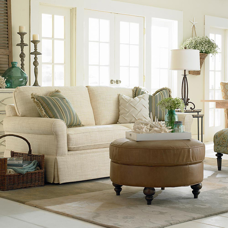 Bassett 8000 62f Custom Upholstery Loft Sofa Discount Furniture At Hickory Park Furniture Galleries
