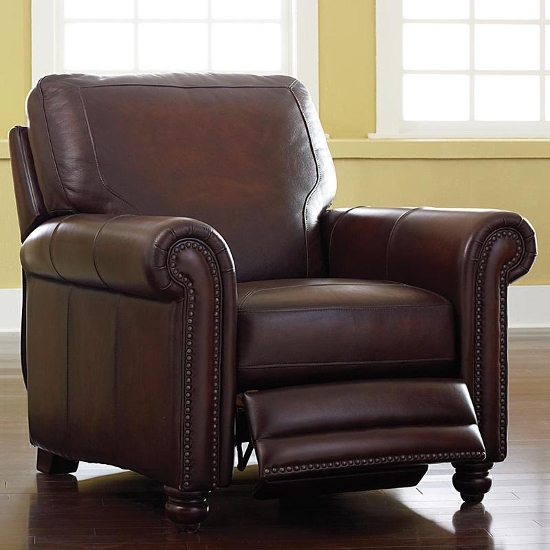 Hamilton Reclining Sectional Sofa By Bassett: Bassett 3959-3LS Hamilton Recliner Discount Furniture At