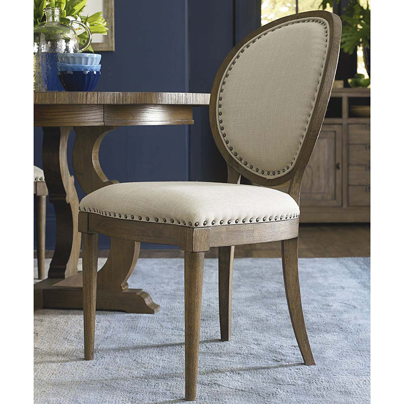 Bassett Furniture Dining Chairs: Bassett 4728-2453 Artisanal Oval Back Side Chair Discount