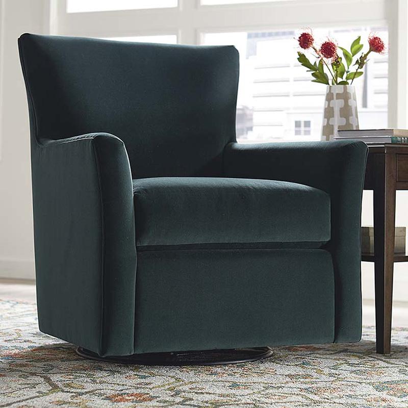 Bassett 1201 09 Elle Swivel Glider Discount Furniture At