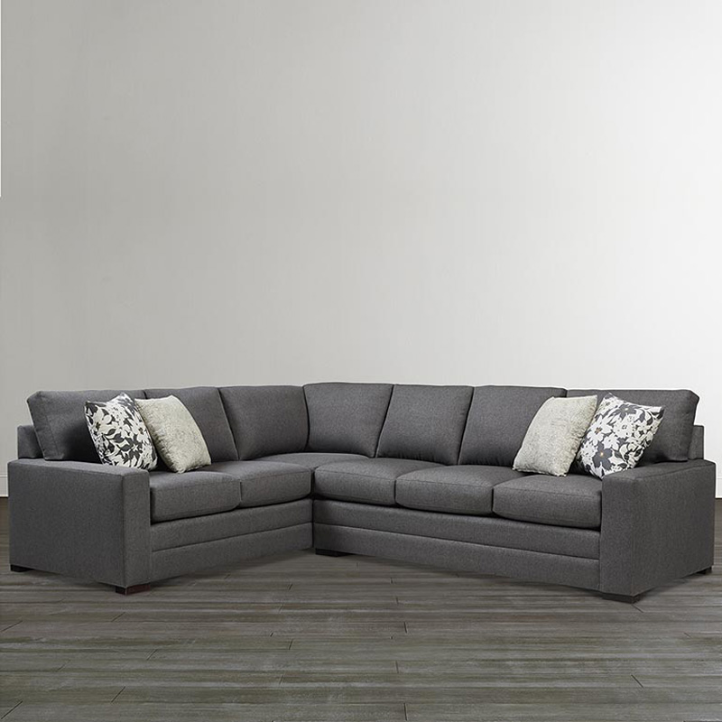 Large U Sectional Sofas: Bassett 2626-LSECTLL Braylen Large L Shaped Sectional