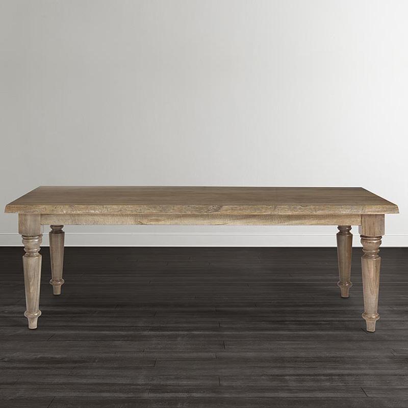 Bassett 4015 4290le Bench Made 90 Inch Farmhouse Table