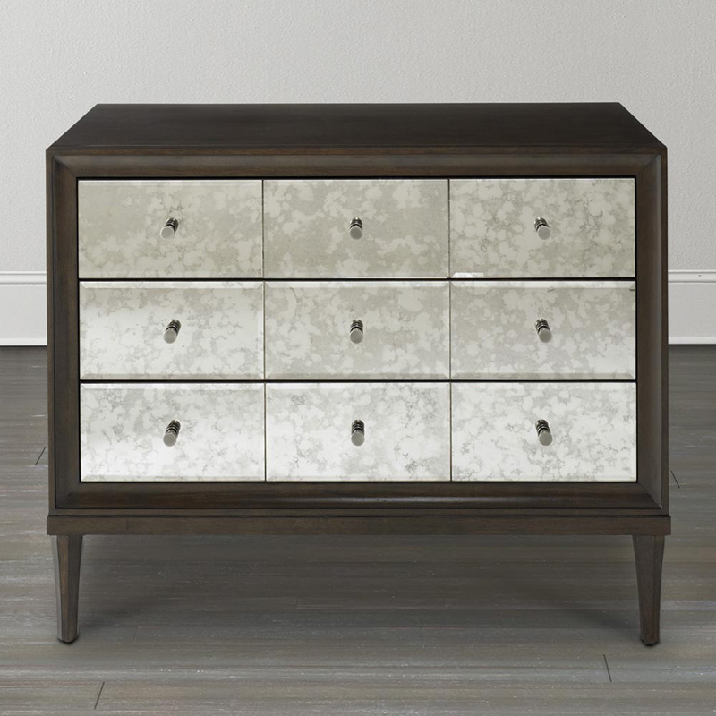 Bassett 6f38 0670 Presidio Accent Chest With Mirror