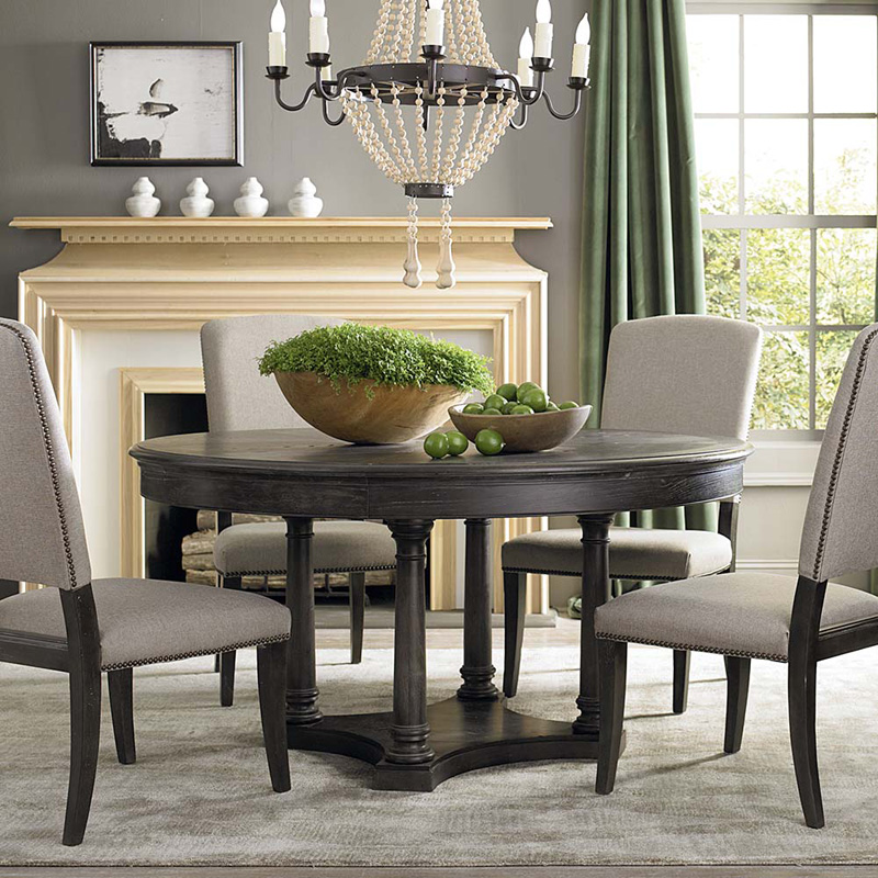 Bassett 4513 K6060 Emporium Round Dining Table Discount Furniture At Hickory