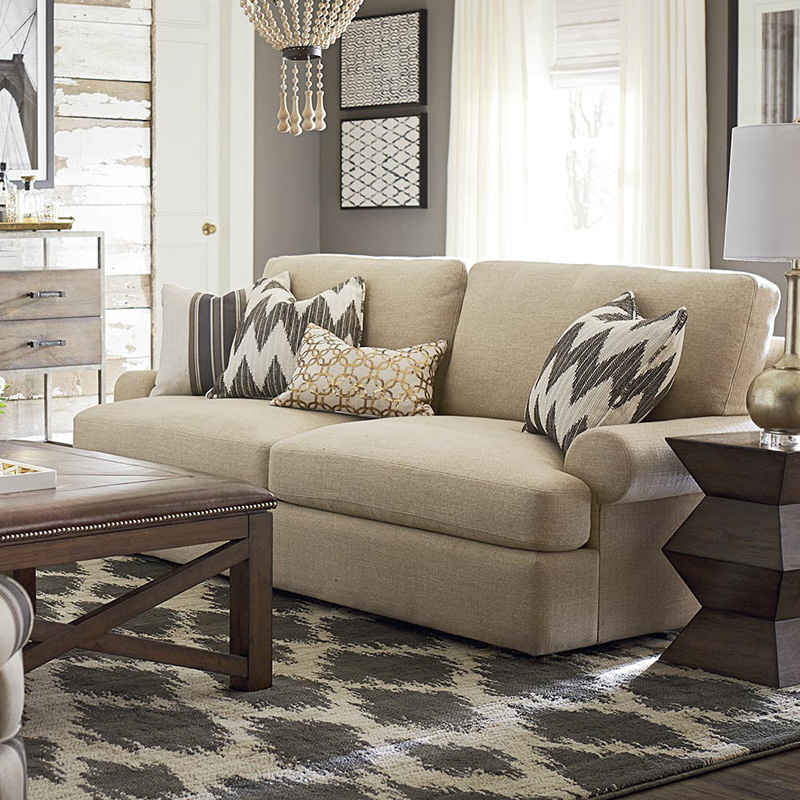 Sectional Sofas In Hickory Nc: Bassett 2607-62 Sutton Sofa Discount Furniture At Hickory