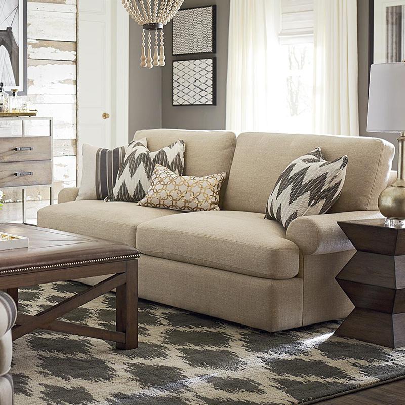 bassett 2607 62 sutton sofa discount furniture at hickory park furniture galleries. Black Bedroom Furniture Sets. Home Design Ideas
