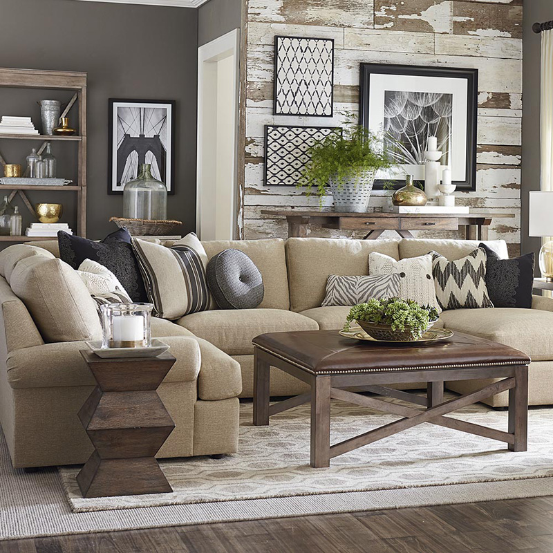 Bassett 2607 URSECT Sutton U Shaped Sectional Discount Furniture At Hickory Park Galleries