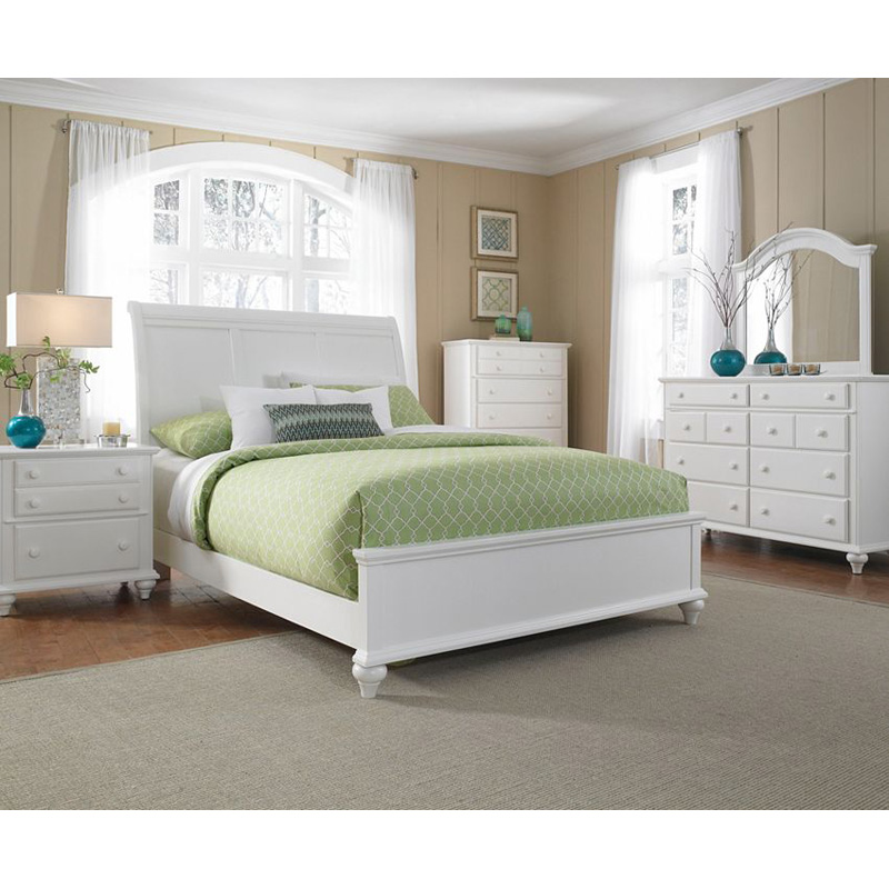 Broyhill 4649 270 Hayden Place White Sleigh Bed Discount Furniture At Hickory Park Furniture