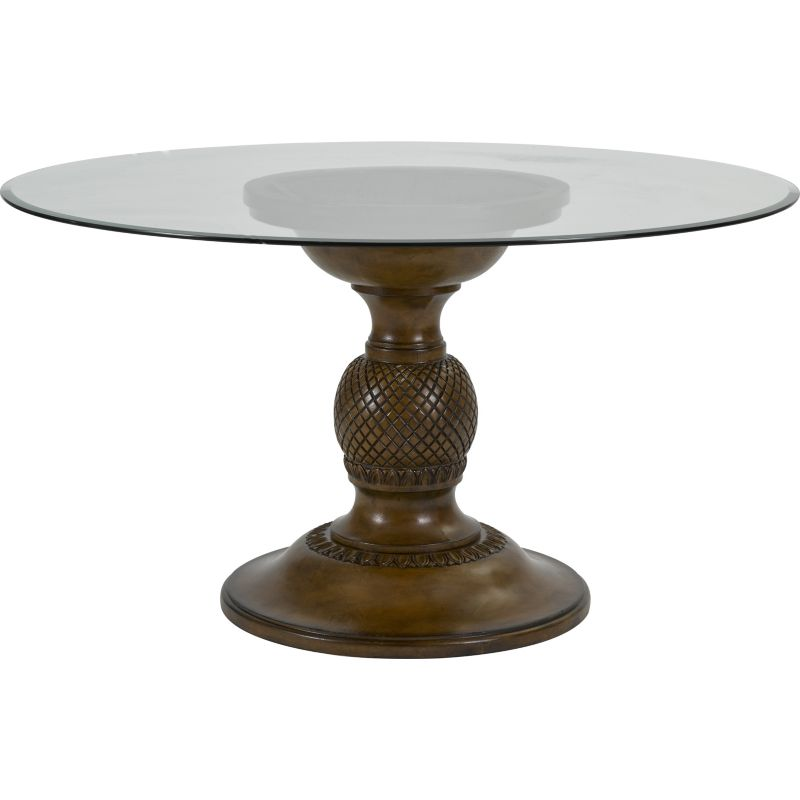 Broyhill Round Dining Table: Broyhill 4548 ROUND DINING Amalie Bay Round Glass Top