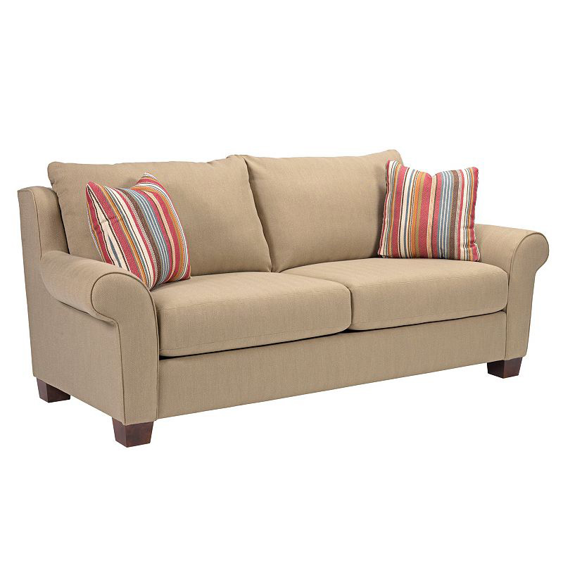 Broyhill 3681 3 jersey sofa discount furniture at hickory for Broyhill chaise lounge cushions