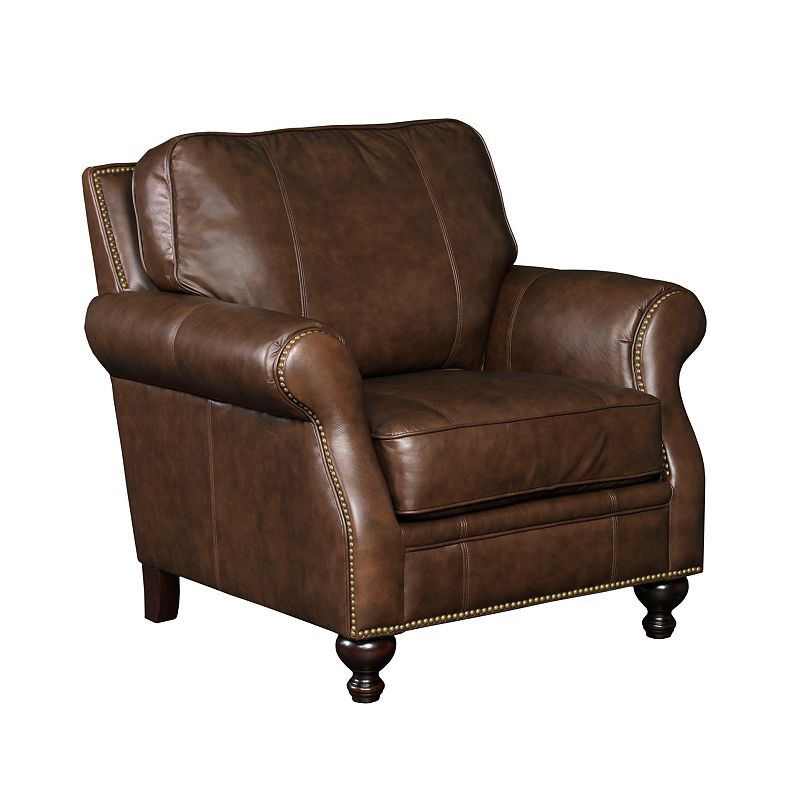 Leather Furniture Outlet North Carolina: Broyhill L651-0 Franklin Leather Chair Discount Furniture