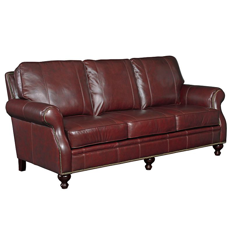 Broyhill L651 3 Franklin Leather Sofa Discount Furniture At Hickory Park Furniture Galleries