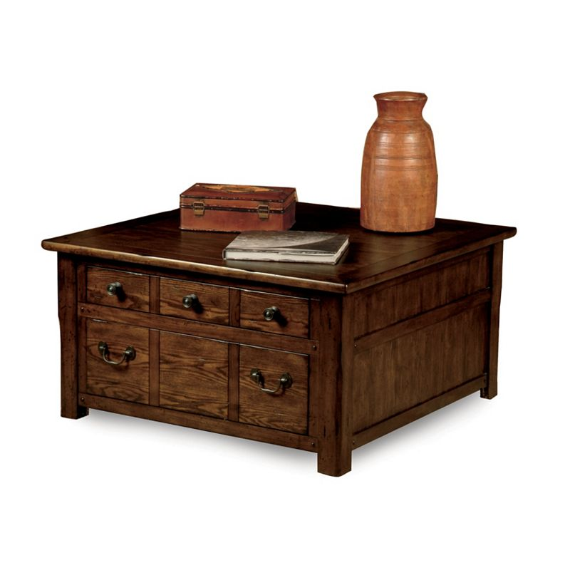 Broyhill 2003 005 Grand Junction Square Storage Cocktail Table Discount Furniture At Hickory