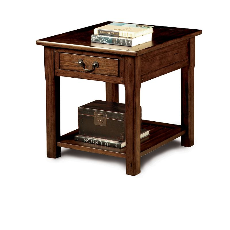 Broyhill 2003 007 Grand Junction Rectangular End Table Discount Furniture At Hickory Park