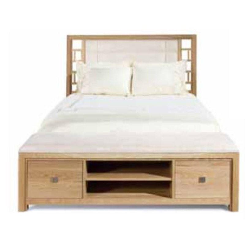 Harden 2607 Scottsdale Queen Upholstered Bed With Bench Footboard Discount Furniture At Hickory