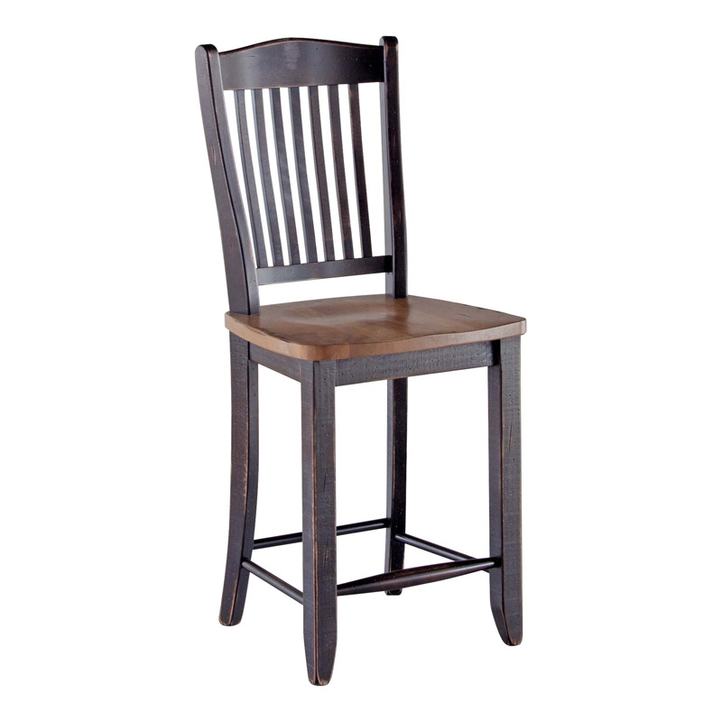 Canadel sto0232df 24 champlain farmhouse fixed barstool 24 for Furniture 24