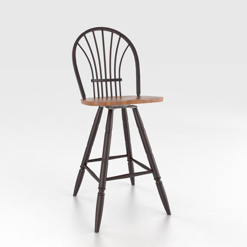 Canadel Sto0041s 30 Custom Dining Farmhouse Swivel Barstool 30 Inch Discount Furniture