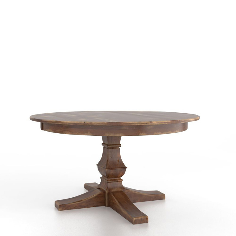 Canadel TRN5454TP F Champlain Farmhouse Round table with pedestal Discount Fu