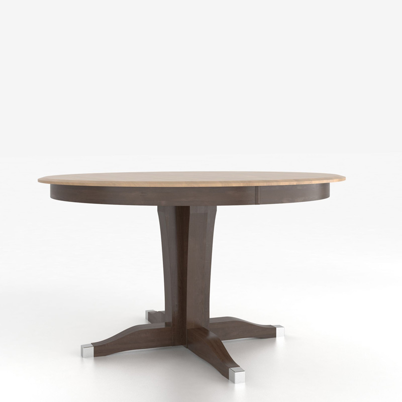 Rectangular Table With Pedestal TRN6060XJ F Canadel Custom Dining