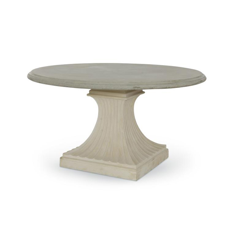 Century d78 801b slt leisure custom dining fluted pedestal for Fluted pedestal base