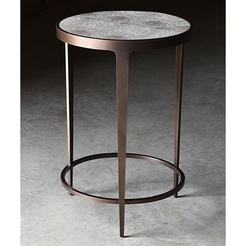 Charleston forge 7496 roundabout drink table with shagreen for Charleston forge furniture