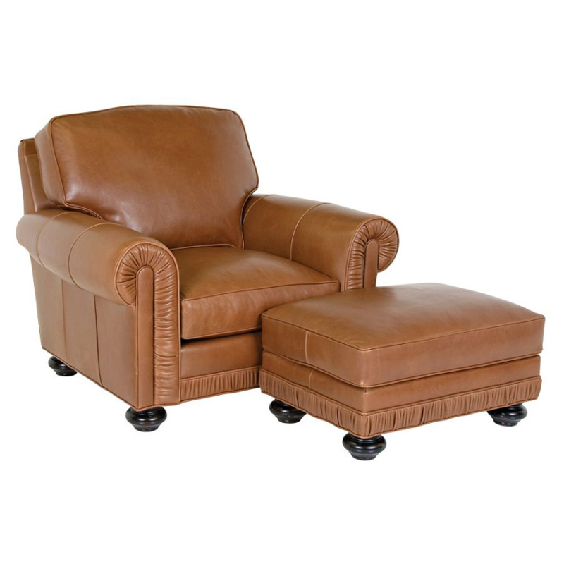 classic leather 8206 8205 chambers chair and ottoman discount furniture at hickory park. Black Bedroom Furniture Sets. Home Design Ideas